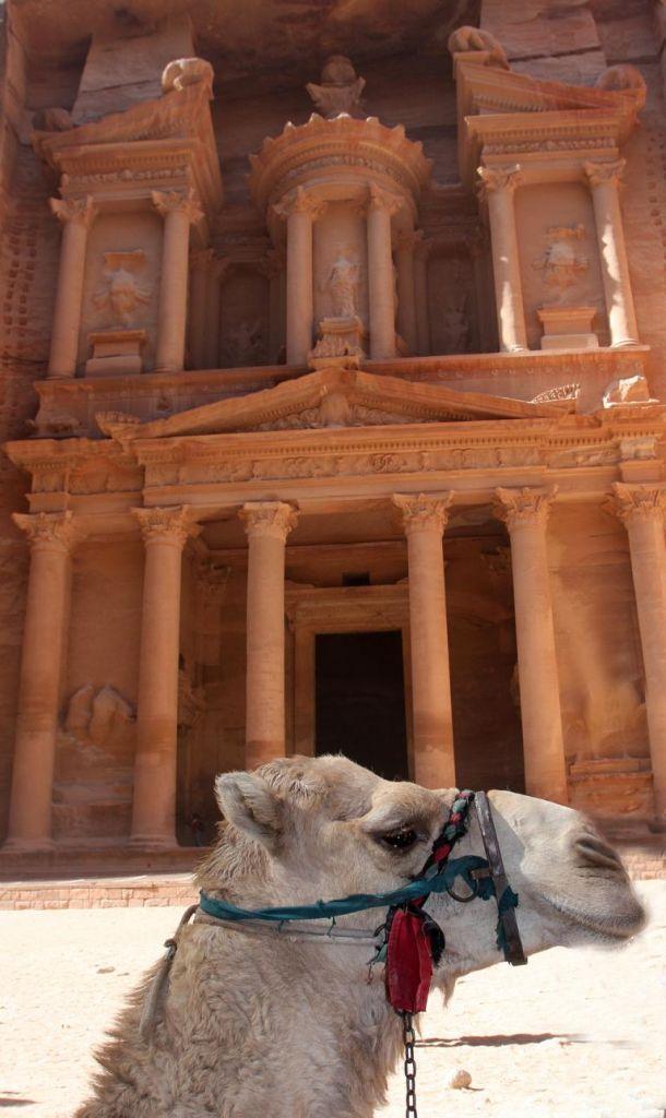 Berühmt: Schatzhaus in Petra, Kulisse für