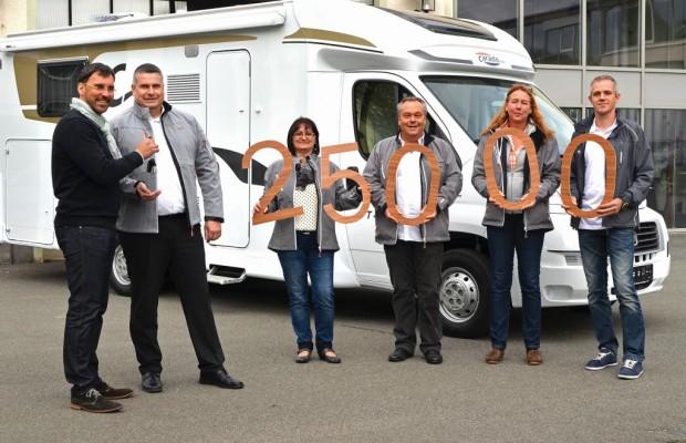 Carado: Jubiläumsfahrzeug an den Mann gebracht