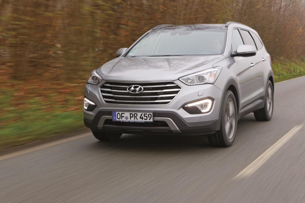Der Hyundai Grand Santa Fe ist als Sechs- oder Siebensitzer erhältlich
