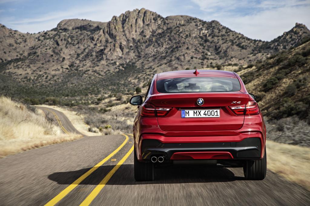 Die Fahrleistungen von fast 250 km/h und einem sportwagenähnlichen Spurt von 5,5 Sekunden lassen schnell vergessen, dass der X4 ja eigentlich von einem eher braven SUV abstammt.