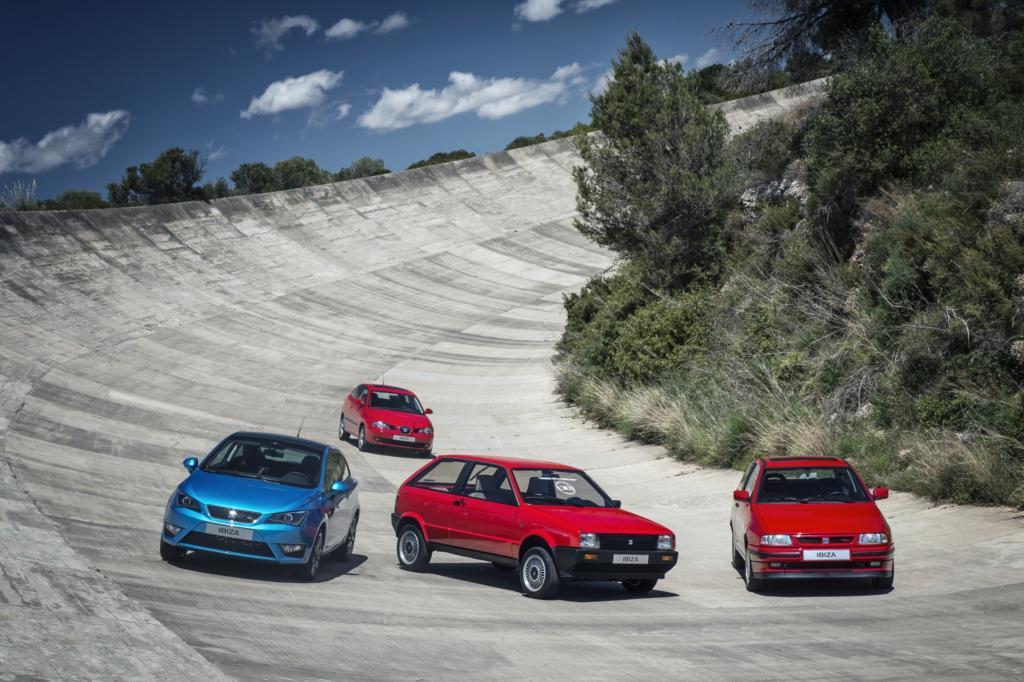 Die vier Generationen des Seat Ibiza