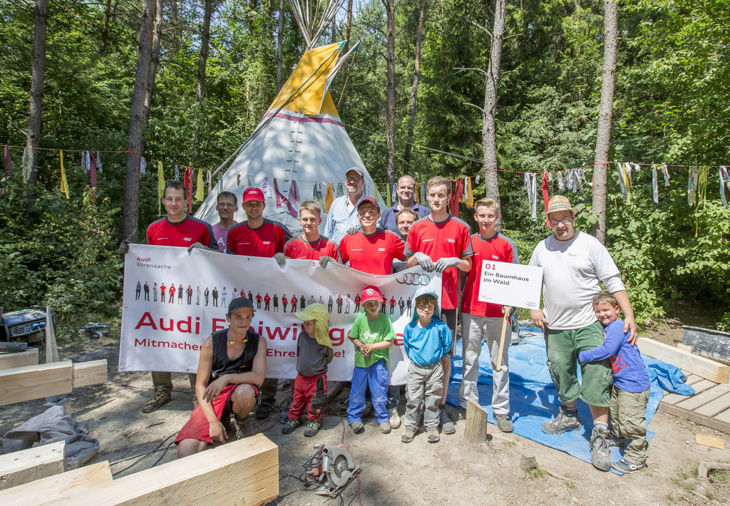 Dritter Freiwilligentag bei Audi