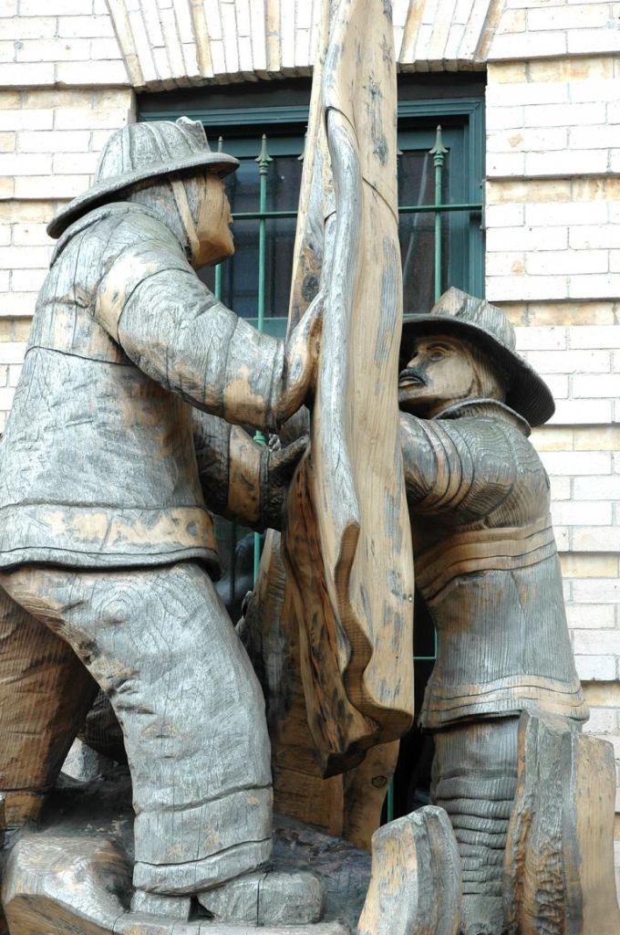 Erinnerung an 9/11: Feuerwehr-Denkmal in Brooklyns Union Street.