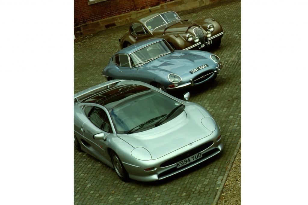 Generationentreffen: Jaguar XJ 220, Jaguar E-Type und Jaguar XK 140