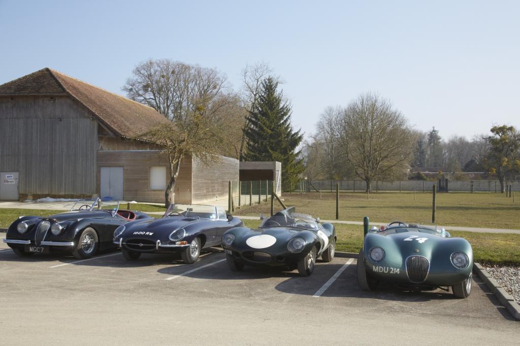 Generationentreffen: Jaguar XK 120, E-Type, D-Type und C-Type auf den Spuren der Rekordfahrt von 1953