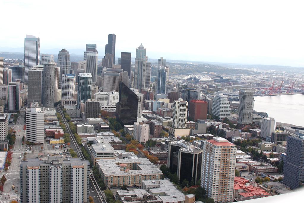 Gläserne Wolkenkratzer prägen längst Seattles Skyline.