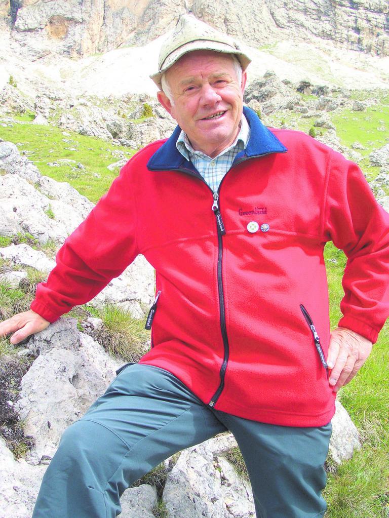 Ignaz Obkircher (75) ist Wanderführer im Hotel Engel Spa & Resort.