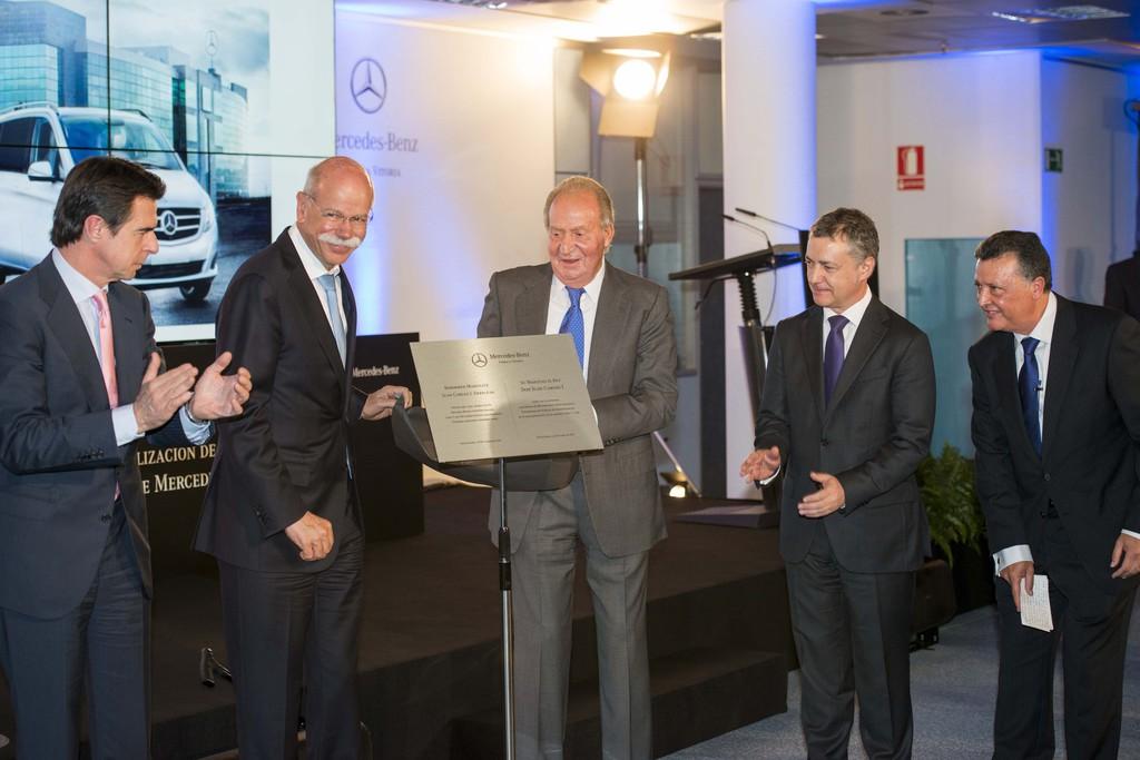 Königlicher Besuch im Mercedes-Benz-Werk