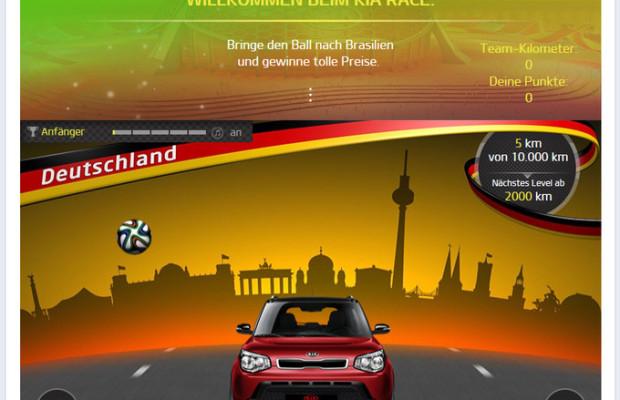 Kia startet WM-Gewinnspiel-App