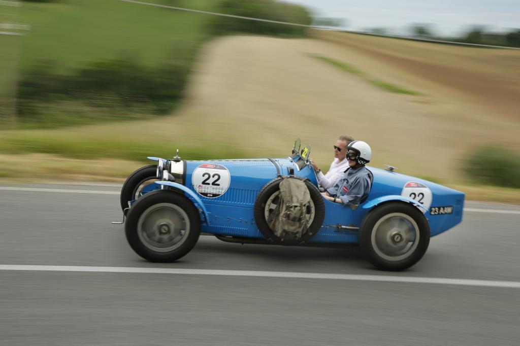 Mit dem Bugatti T35 aus dem Jahr 1926 fuhren wir die Mille Miglia