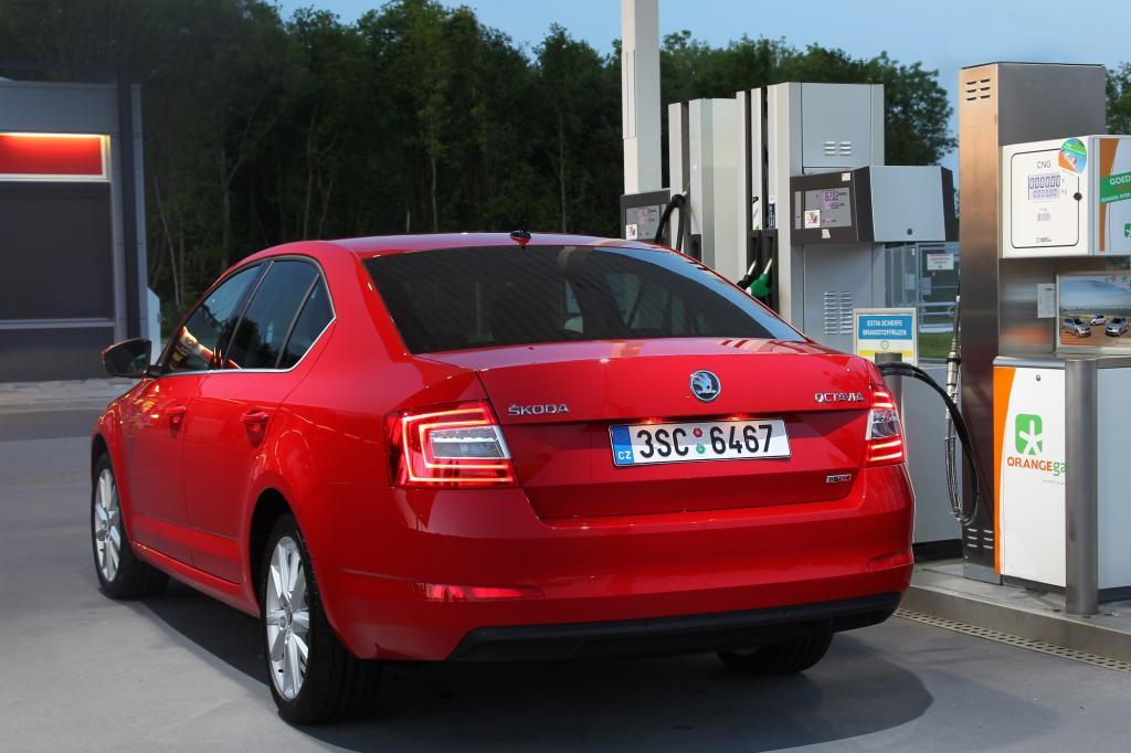 Mit nur 3,5 kg Erdgas je 100 km (97 g CO2/km) beziffert das Werk den Verbrauch des 1,4 Liter großen Turbomotors mit 81 kW/110 PS.