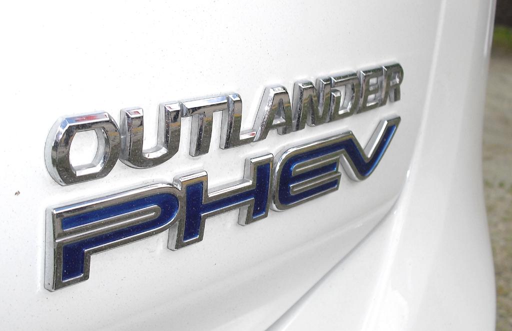 Outlander Plug-in-Hybrid: Antriebsschriftzug am Heck.