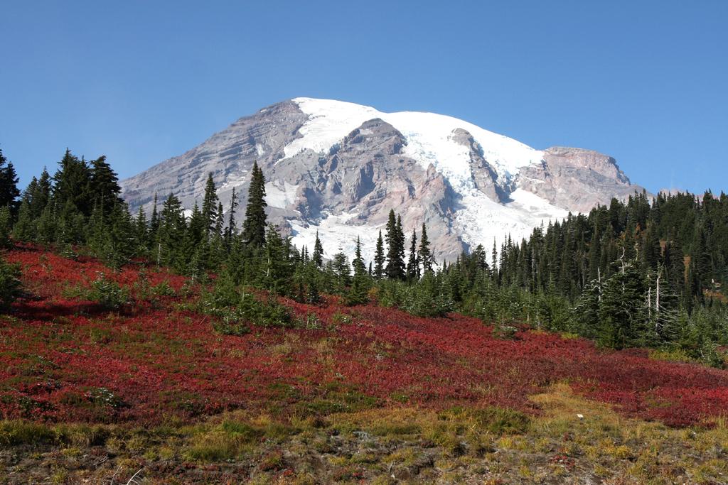 Seattles Hausberg Mount Rainer ist ein noch aktiver Vulkan.