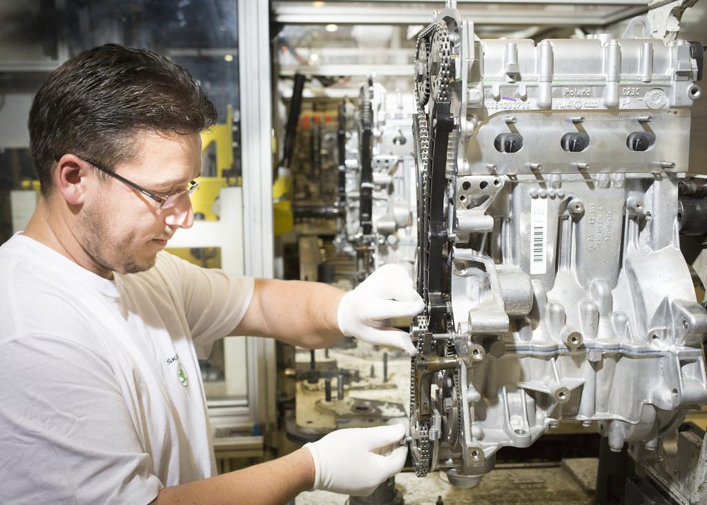 Skoda produziert dreimillionsten 1,2-HTP-Benzinmotor