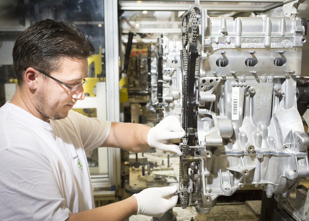 Skoda produziert dreimillionsten 1.2-HTP-Benzinmotor