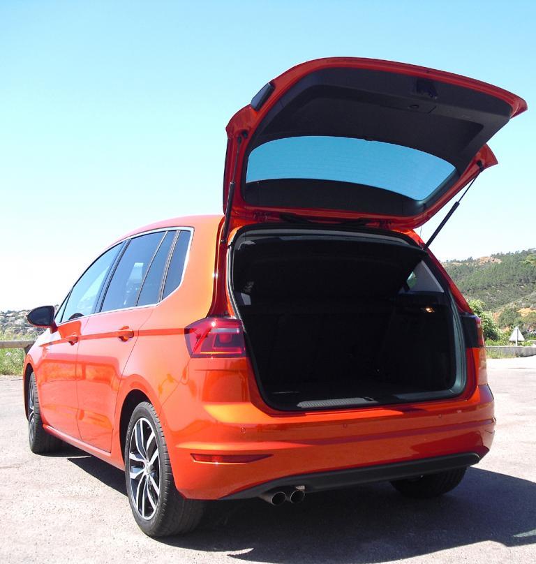 VW Golf Sportsvan: Das Gepäckabteil fasst 500 bis 1520 Liter.