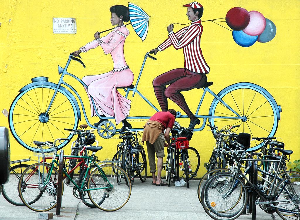 Wandmalerei in einem Viertel des 2,5 Millionen Einwohner zählenden Brooklyn.
