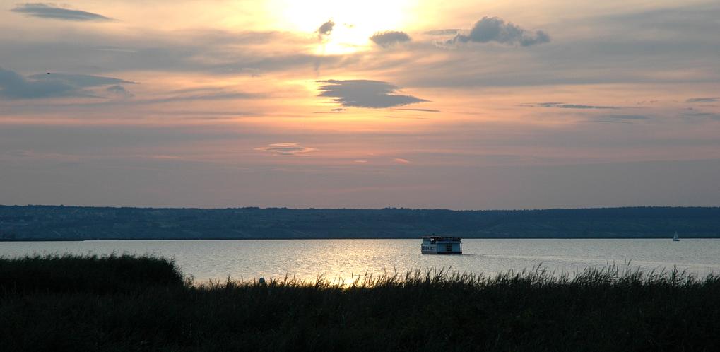 Abendstimmung am Neusiedler See.