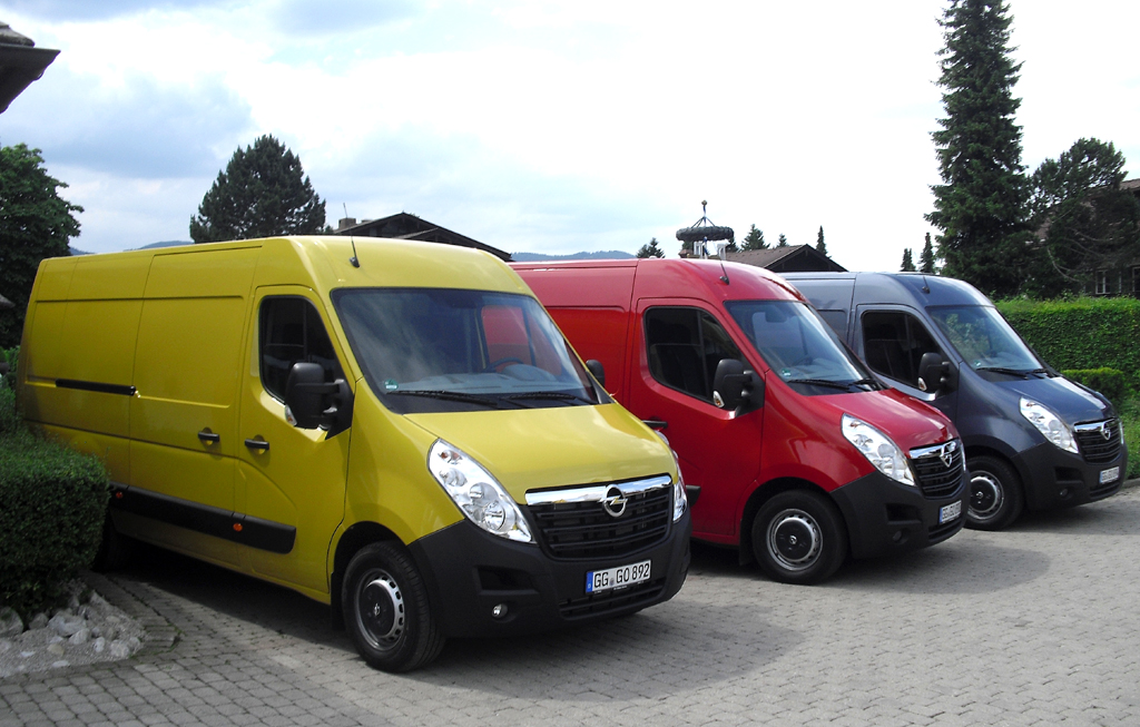 Auch der größere Opel Movano fährt mit effizienteren Motoren vor.