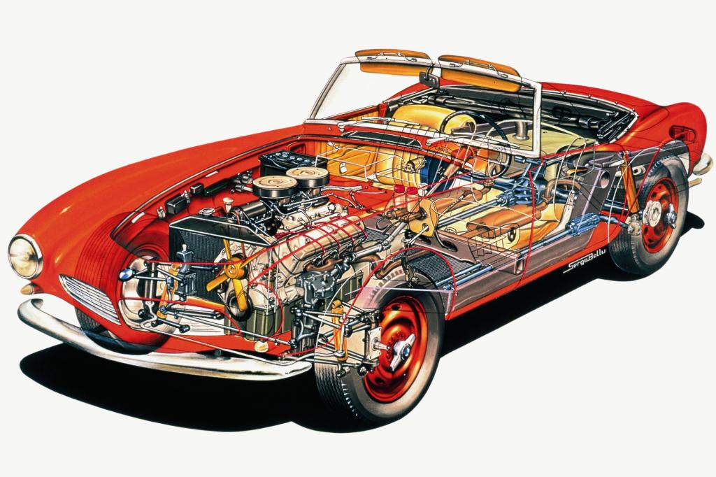BMW 502 V8 Roentgenbild ab 1956