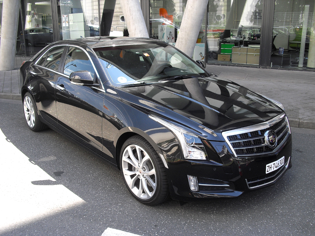 Bei der Roadshow dabei: Kompakte Cadillac-Sportlimousine ATS.
