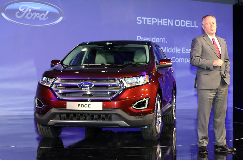 Blick auf die Frontpartie. Ford Europe President, Stephan Odell.