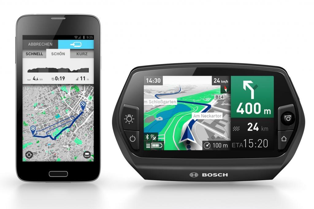 Das Navigationssystem ist an die Bedürfnisse von E-Bike-Fahrern angepasst