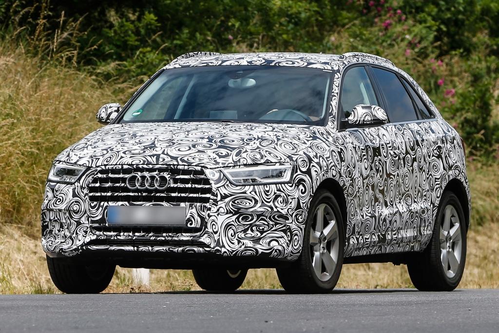 Erwischt: Erlkönig Audi Q3 Facelift