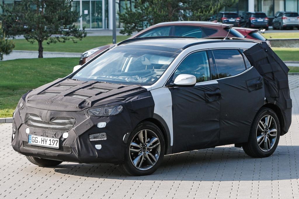 Erwischt: Erlkönig Hyundai Santa Fe Facelift (2015)