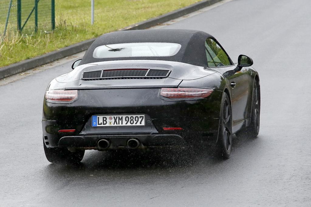 Erwischt: Erlkönig Porsche 911 GTS Cabrio - Luft zum frei atmen