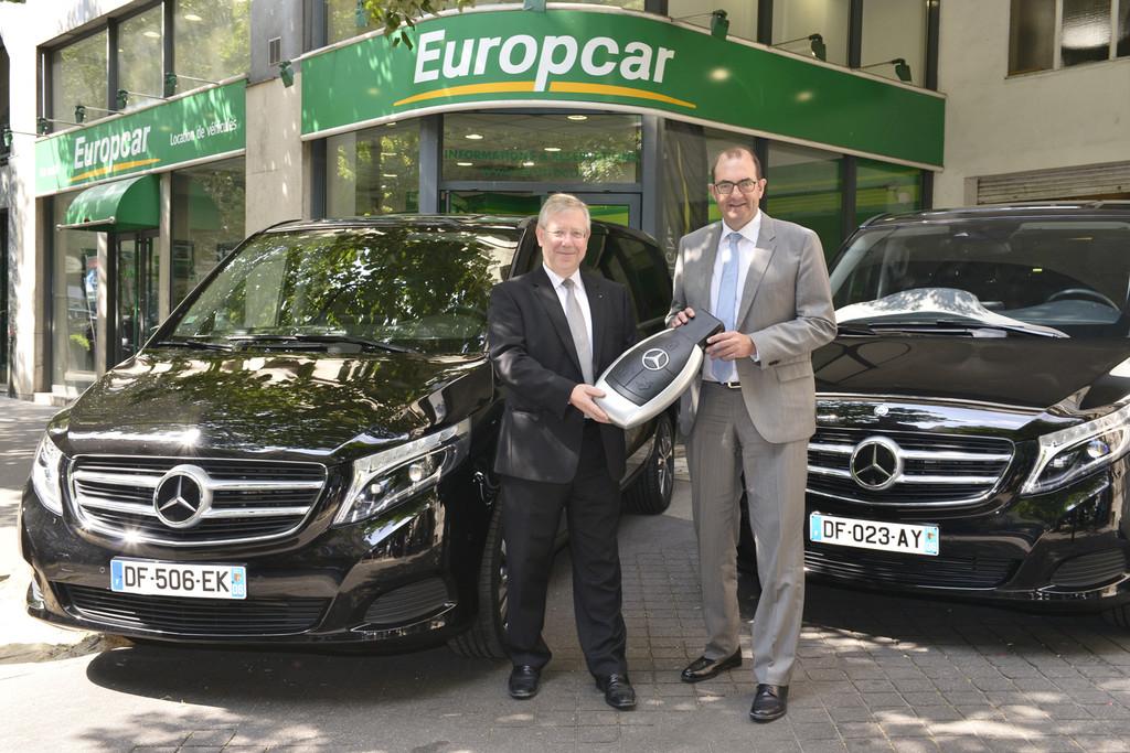 Europcar übernimmt 175 Mercedes-Benz V-Klasse Großraumlimousinen