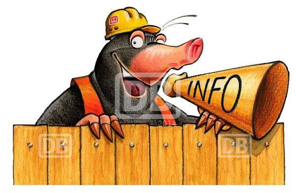 Max Maulwurf informiert über Bahnbaustellen