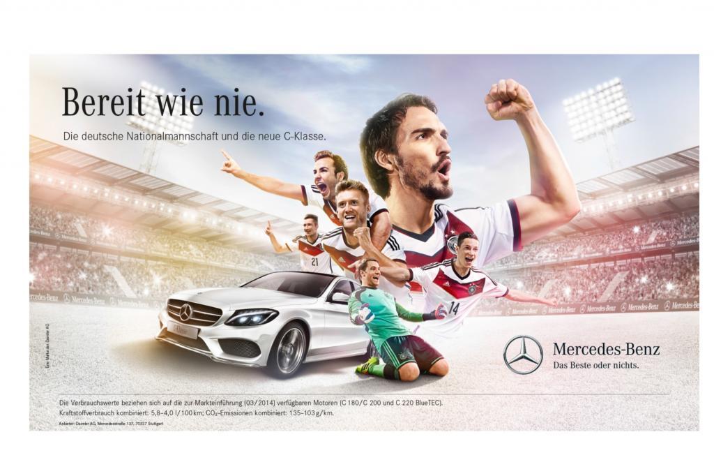 """Mercedes-Benz und die Nationalelf zeigen im TV-Spot, dass unsere Jungs 2014 """"Bereit wie nie"""" sind"""
