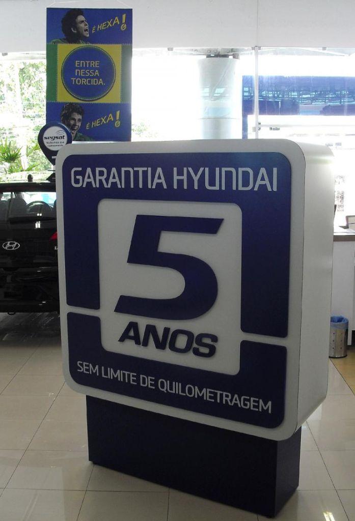 Mit fünf Jahren Garantie wirbt Hyundai auch in Brasilien.