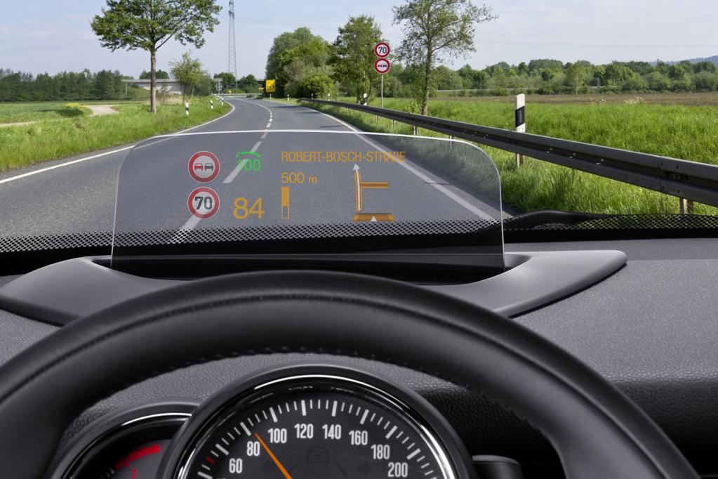 Nicht nur für Mini: neues Head-up-Display von Bosch