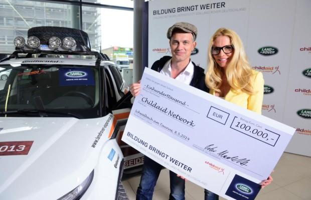 Projektreise - Land Rover und TV-Stars sammeln für Kinder
