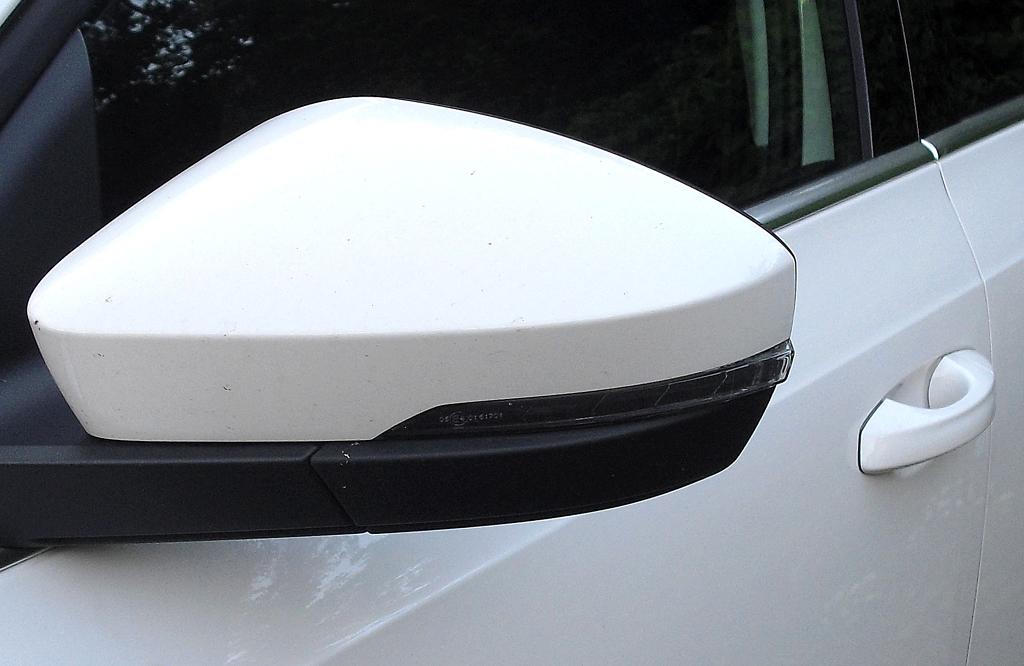Skoda Octavia: In die Außenspiegel sind schmale Blinkstreifen integriert.