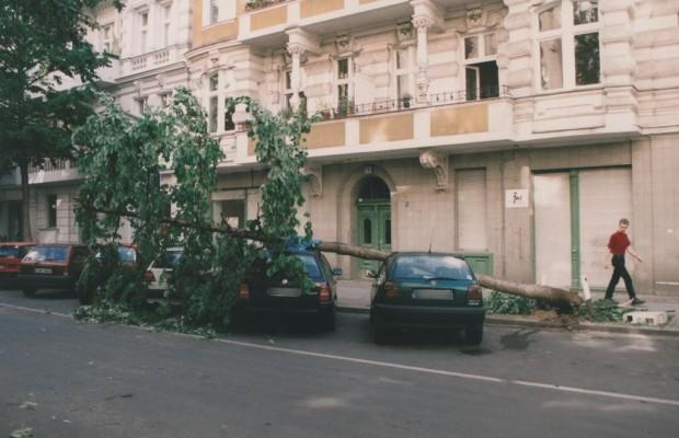 Sturmschäden am Auto - Richtig handeln nach dem Donnerwetter