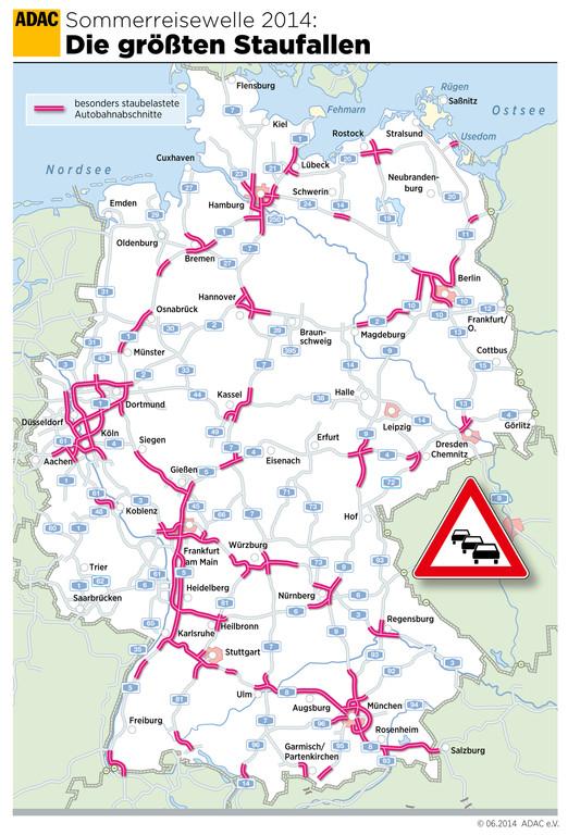 ADAC-Stauprognose: Ferien in zwölf Bundesländern