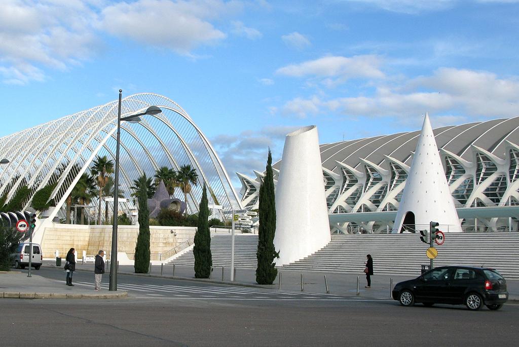 Auch das ist Valencia, das andere: (Calatrava-) Stadt der Künste und Wissenschaften.
