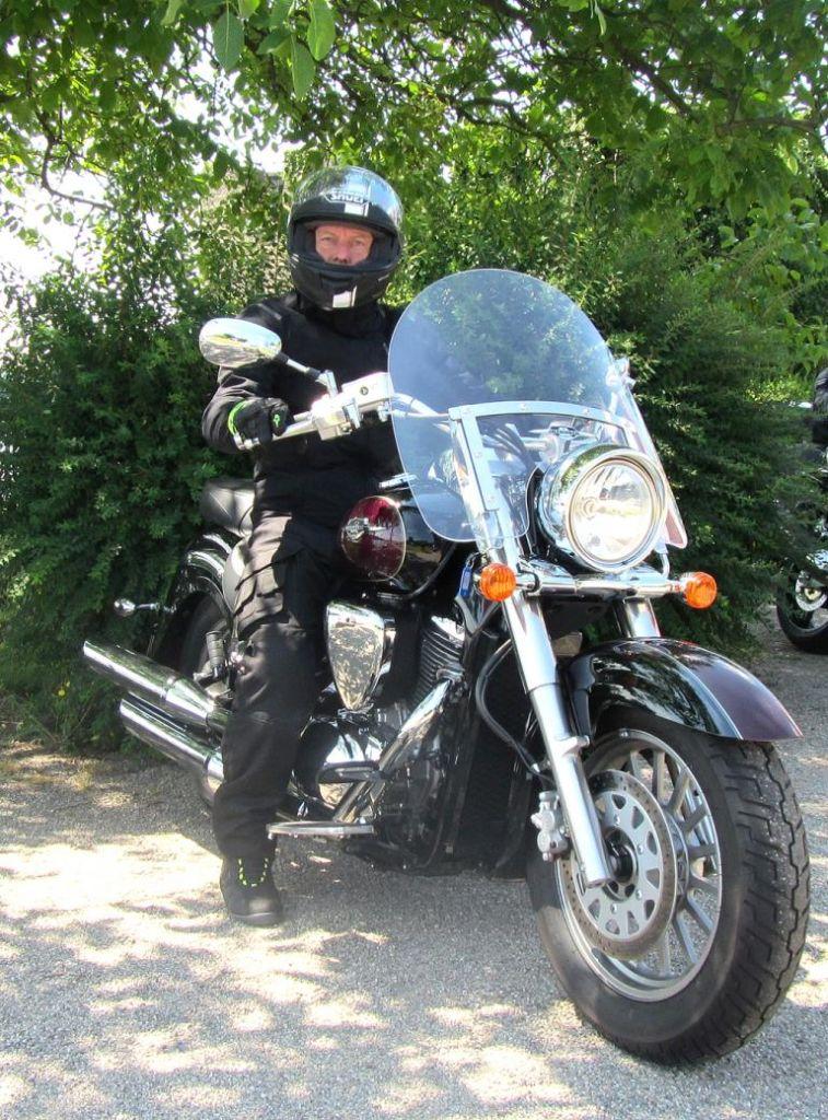 Auch mit ihren Motorrädern sind die Japaner hierzulande vertreten ...