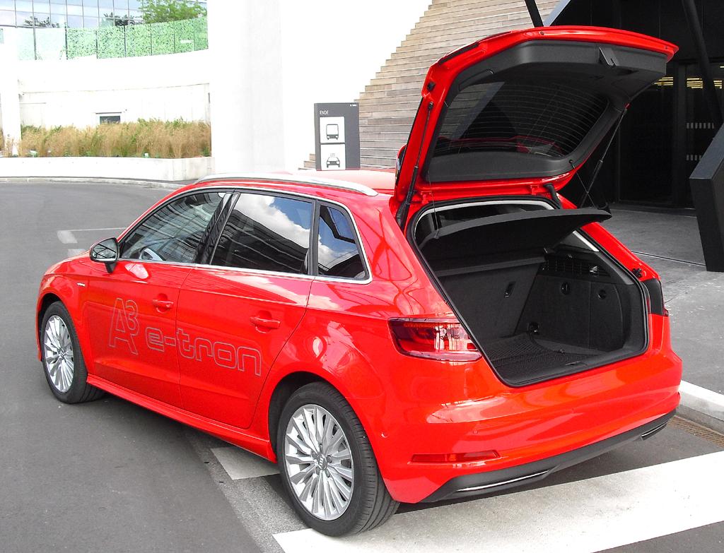 Audi A3 Sportback e-tron: Das Gepäckabteil fasst 280 bis 1120 Liter.