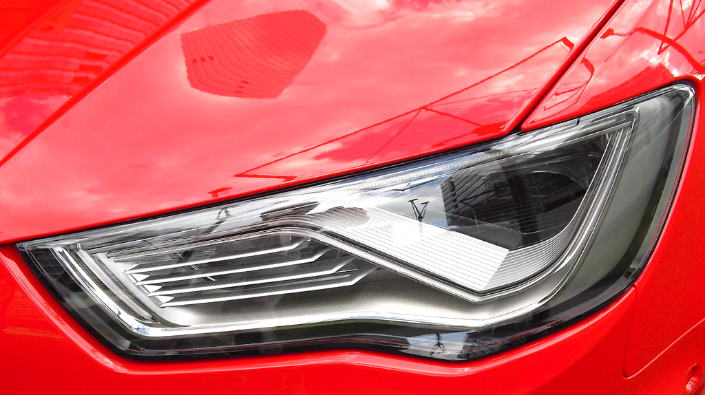 Audi A3 Sportback e-tron: Moderne Leuchteinheit vorn.