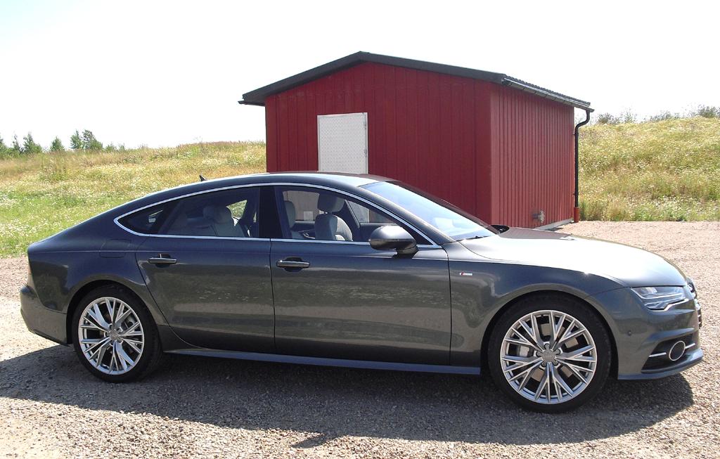Audi A7 Sportback: So sieht das große Coupé der Ingolstädter von der Seite aus.