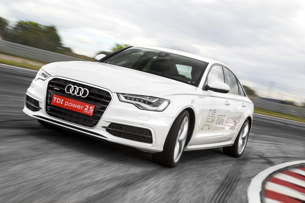 Audi expermentiert mit dem E-Turbo, hier ein A6-Konzeptfahrzeug