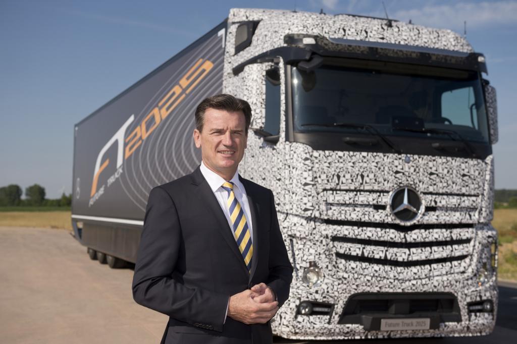 Autonom fahrende Trucks von Daimler - Selbst ist der Brummi