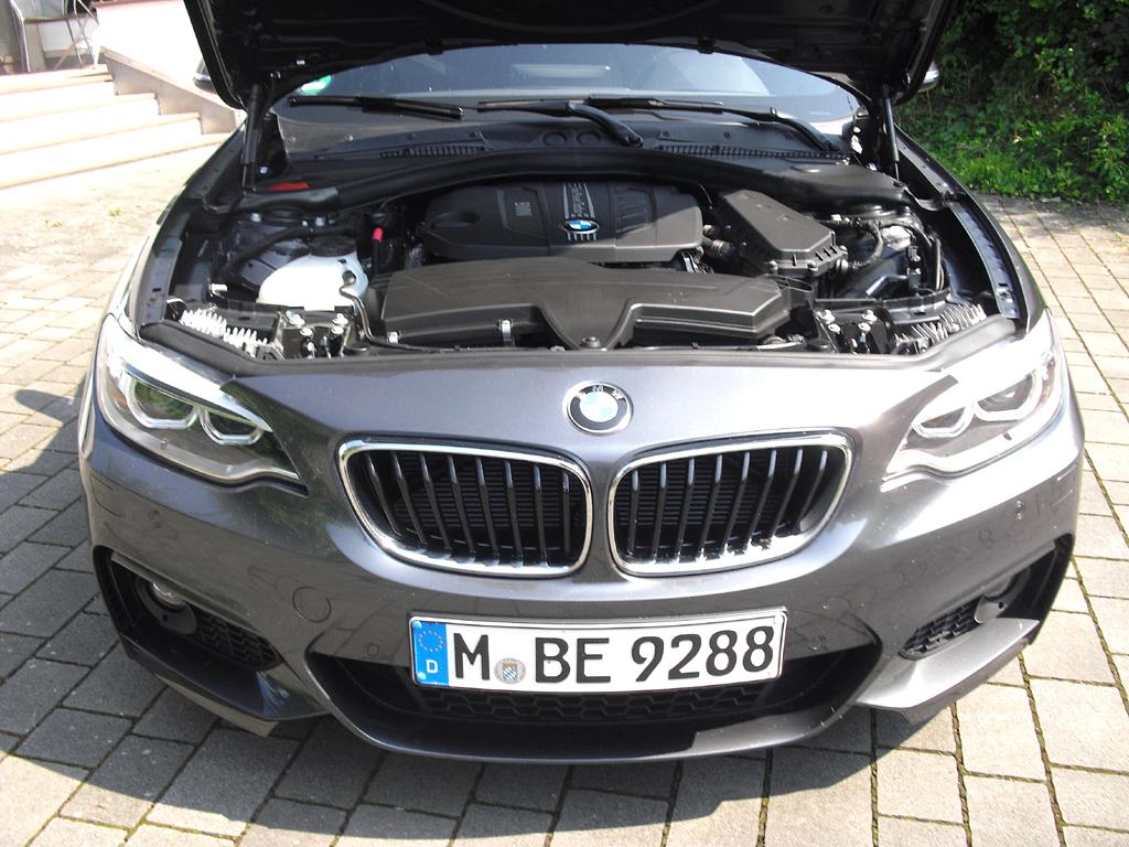 BMW 2er-Coupé: Blick unter die Haube auf den 2,0-Liter-Twinpower-Turbo.