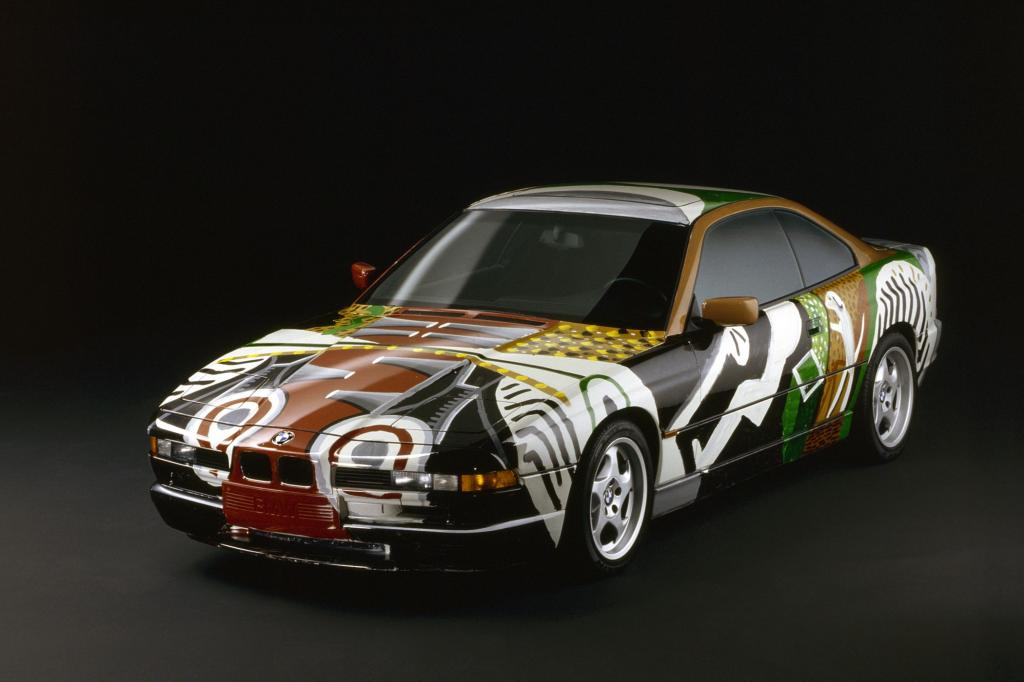 BMW 850 CSi ArtCar von David Hockney 1995