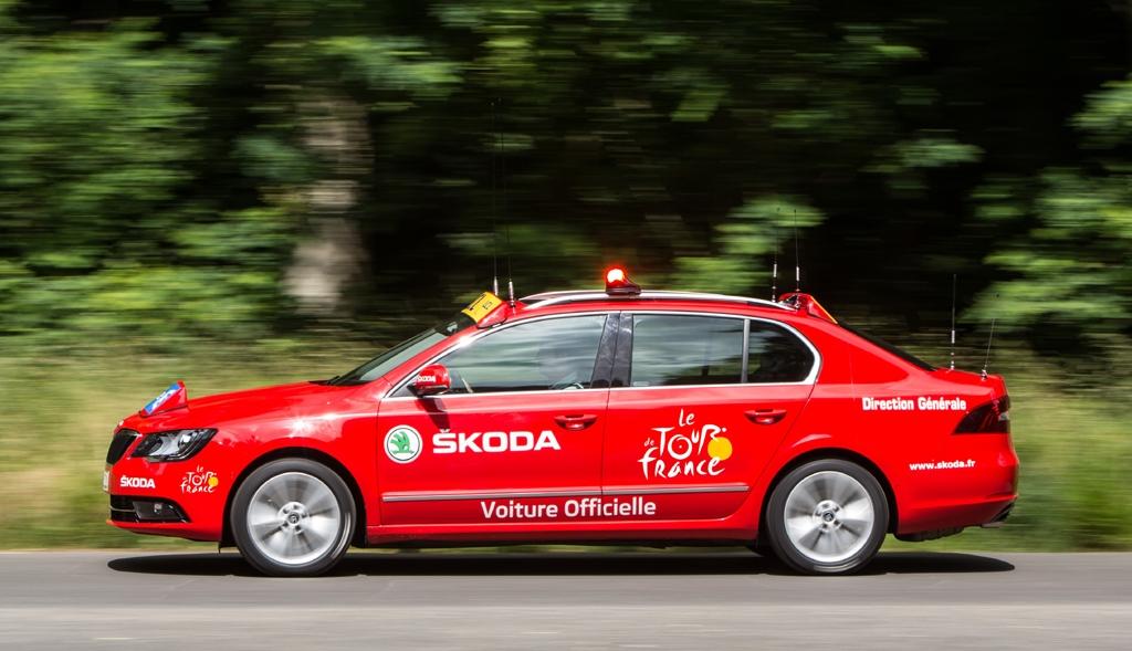 Begleiter zahlreicher Radsportevents: Skoda Rapid Spaceback