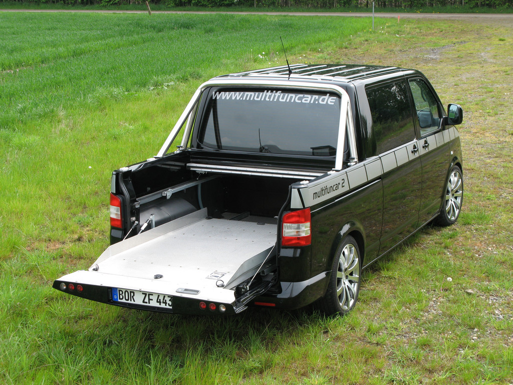 Der VW T5 als Pick-up: Multifuncar von Stockel